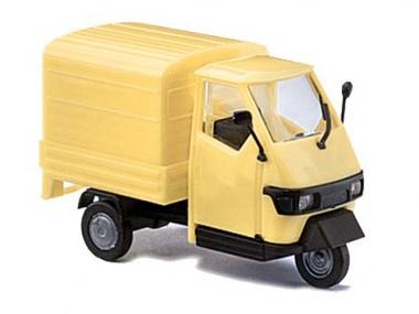 Busch Autos 60206 Bausatz Piaggio Ape 50 mit Pritsche gelb
