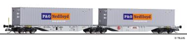 Tillig 18068 HUPAC Containertragwagen Sggmrs Ep.6