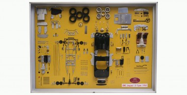 CMC A-016 Jaguar C-Type -  Bauteile-Display