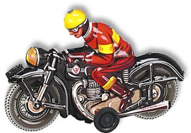 Wilesco 10588 W588 Motorrad schwarz