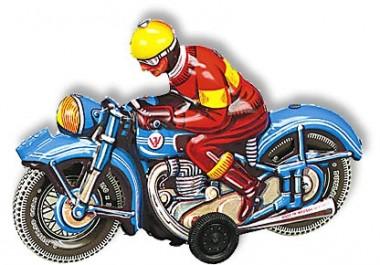 Wilesco 10589 W589 Motorrad blau