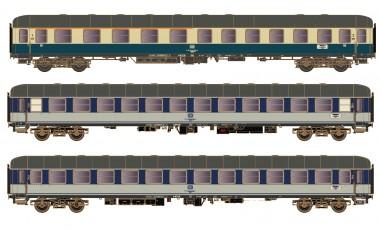 Hobbytrain 43042 DB Personenwagen-Set 3-tlg Ep.4