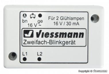 Viessmann 5028 Zweifach-Blinkgerät mit zwei Glühlampen