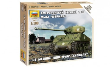 Zvezda 786263 US-Medium Tank M-4A2 Sherman