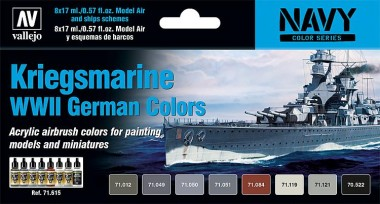 Vallejo 71615 Farbset: Kriegsmarine WWII  8x17ml
