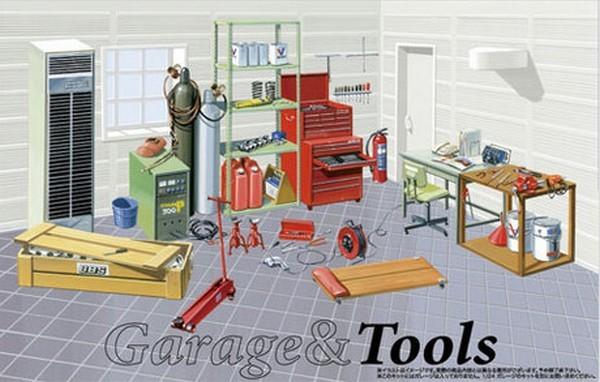 Fujimi 11505 Tools Werkstatteinrichtung Menzels Lokschuppen