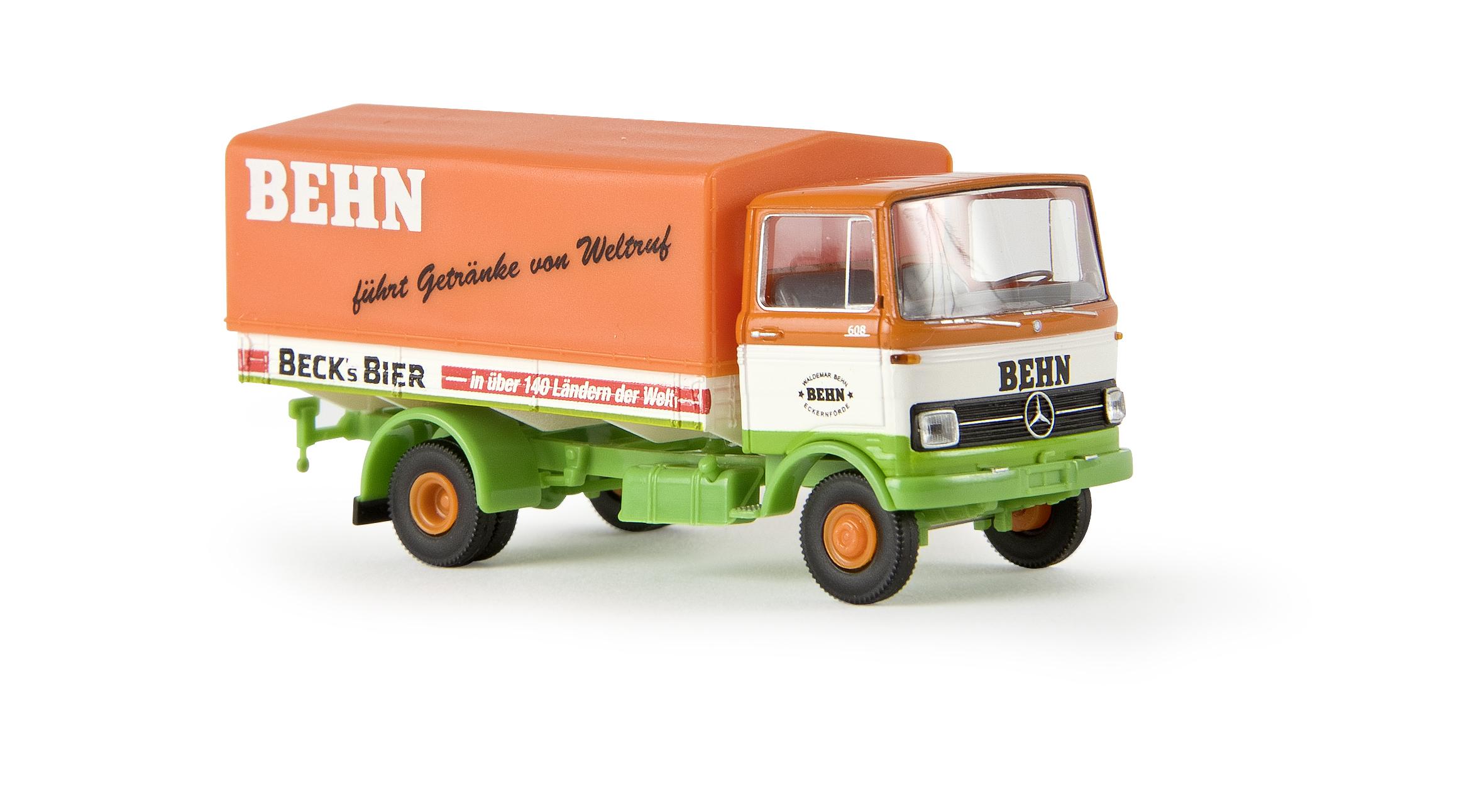 Brekina 48506 MB L608 Pritsche/Pl. Behn/Becks Bier   Menzels ...