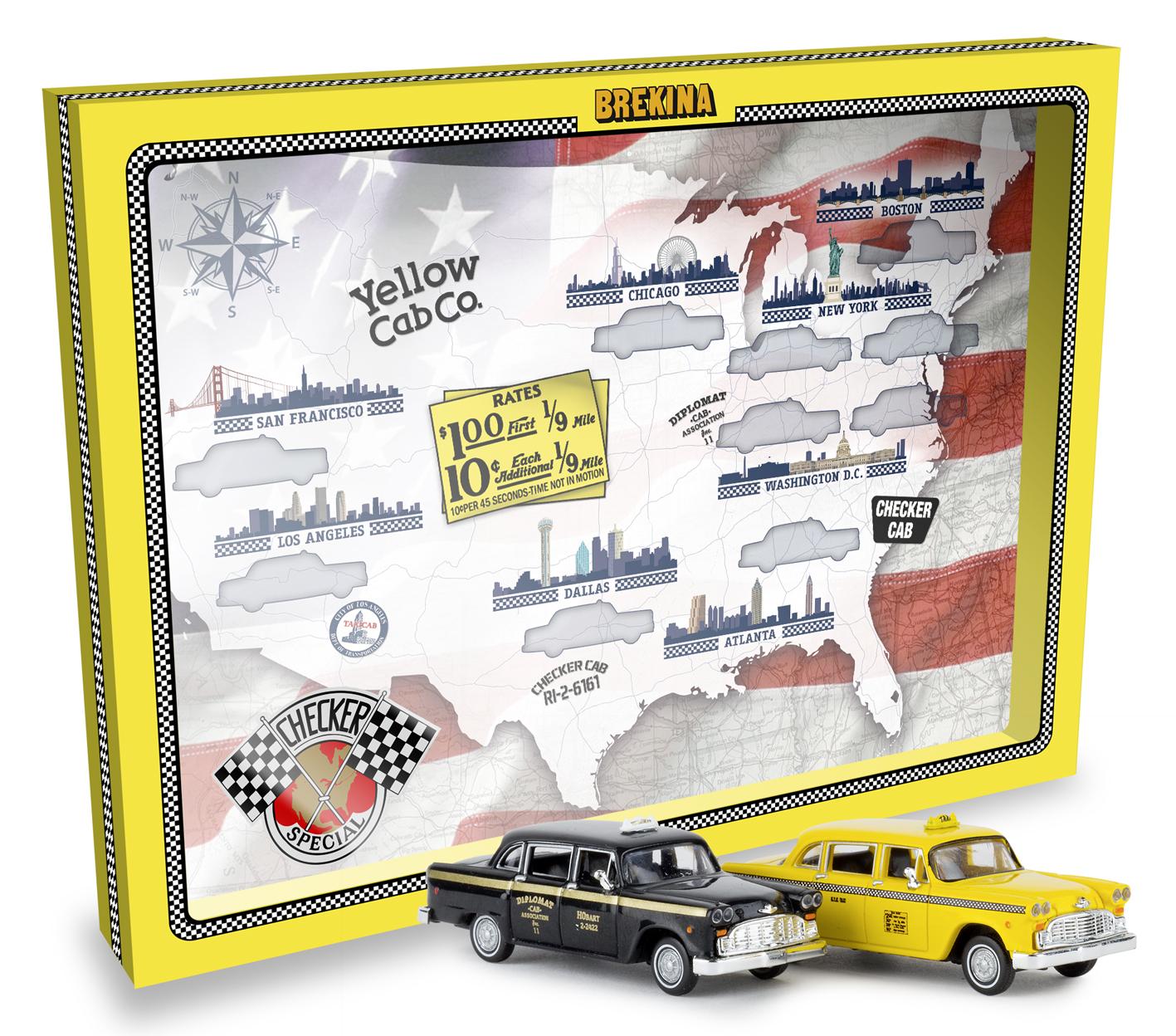 online store fe6a9 50b4e Brekina 58931 USA Checker-Cab Set mit 2 Modellen