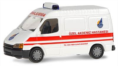 Rietze 50547 Ford Transit Kasten Ambulance Tr Menzels Lokschuppen