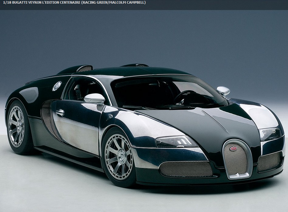 autoart 70958 bugatti veyron gr n campbell 2009 menzels lokschuppen onlineshop. Black Bedroom Furniture Sets. Home Design Ideas