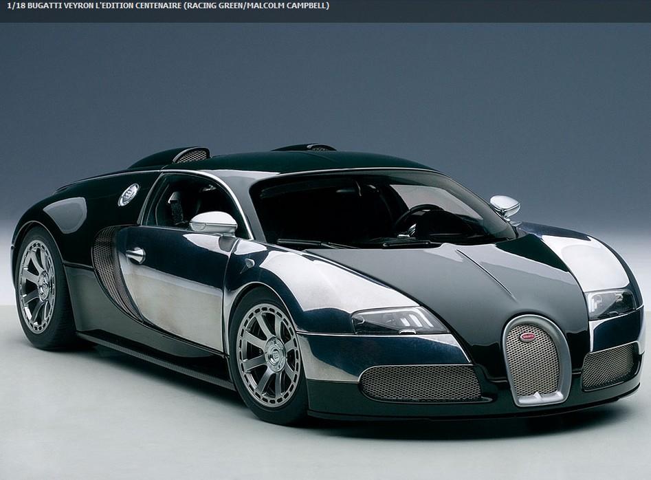 autoart 70958 bugatti veyron gr n campbell 2009 menzels. Black Bedroom Furniture Sets. Home Design Ideas